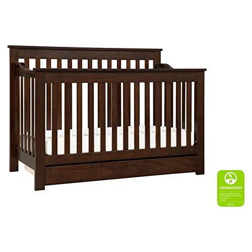 DaVinci Piedmont 4-in-1 Convertible Crib with Toddler Bed Conversion Kit, Espresso (Davinci Kalani 6 Drawer Double Wide Dresser Espresso)