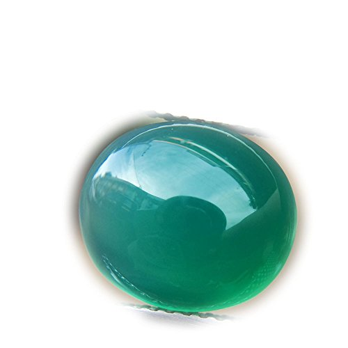 Lovemom 4.38ct Natural Cabochon Unheated Green Chalcedony Africa #W by Lovemom