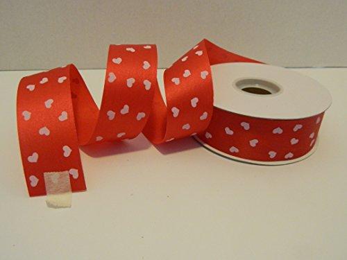 Mothers Day Ribbon (Heart Printed Florist Ribbon 1 3/8
