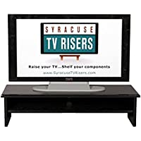 Black X-Large Triple Tier TV Riser 36x14x8 3/4top-33wx13d x 3 1/2 high inside