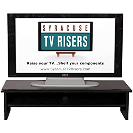Black X Large Triple Tier TV Riser 36x14x8 3 4 Top 33wx13d X 3 1 2 High Inside