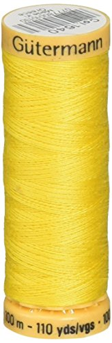 Gutermann Natural Cotton Thread 110 Yards-Canary Yellow