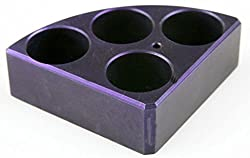 Scilogex 18900003 Quarter Reaction Block For 20 Ml Reaction Vessel 28 Mmdia, 24 Mmheight, 4 Holes, Purple
