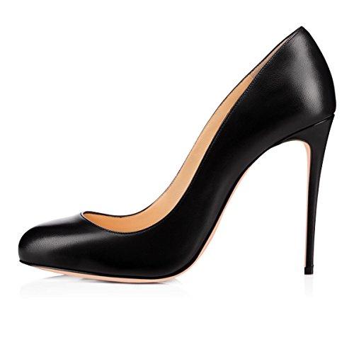noir mat hauts Escarpins bout pour femmes 4 robe sandales avec escarpins pour femmes escarpins pointu de soirée à onlymaker talons 14WUW