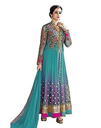 1858ba086 Amazon.com: RUHANI Women's Anarkali Salwar Kameez Designer Indian Dress  Bollywood Ethnic Party: Clothing