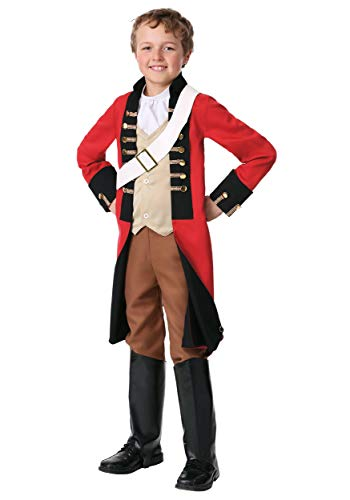 Child British Redcoat Costume Small