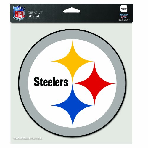 - NFL Pittsburgh Steelers 8-by-8 Inch Diecut Colored Decal