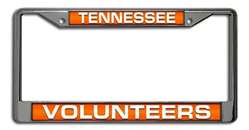 (Rico Industries NCAA Tennessee Volunteers Laser Cut Inlaid Standard Chrome License Plate Frame)