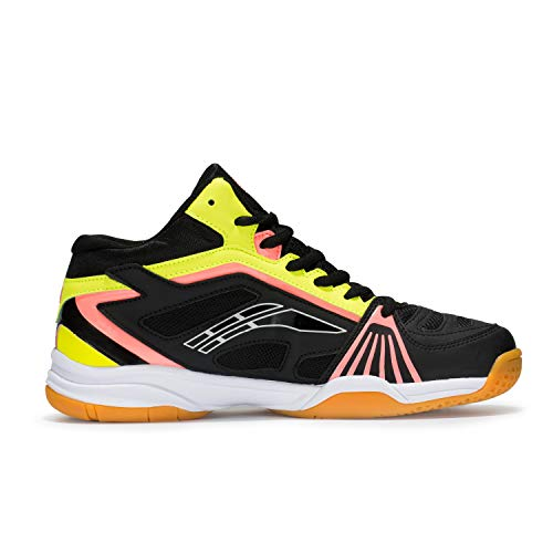 Amazon.com | Fashiontown Badminton Shoes Men Non Slip Indoor Court Tennis Racquetball Sneakers Comfy Training Shoe Yellow | Road Running