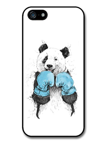 Funny Panda with Blue Boxing Gloves Sparring Illustration case for iPhone 5 5S
