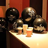 Game of Thrones Party Decorations Kit Biodegradable Cups and Balloons Props Supplies Favors Decor, 15 Pcs Cups + 15 Pcs Black Balloons