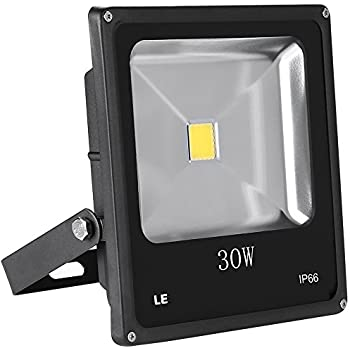 LE 30W Super Bright Outdoor LED Flood Lights, 75W HPS Bulb Equivalent, Waterproof, 2250lm, Daylight White, 6000K, Security Lights, Floodlight