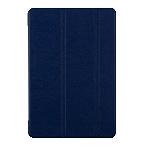 kwmobile® 3in1 set: Ultra Slim Smart Cover for HTC Google Nexus 9 in Navy blue with convenient stand function + Skin, crystal clear + Stylus, Black