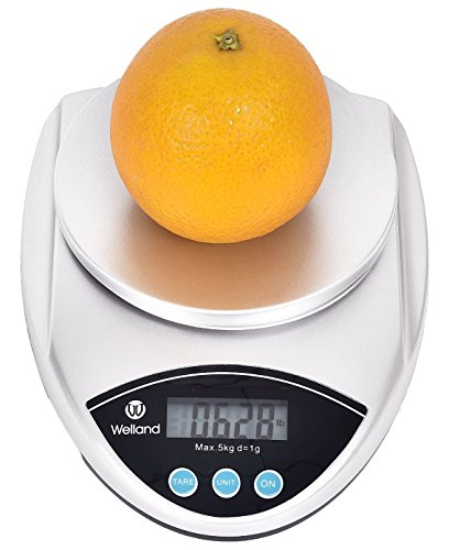 WELLAND Digital Multifunction Kitchen and Food Scale, Silver