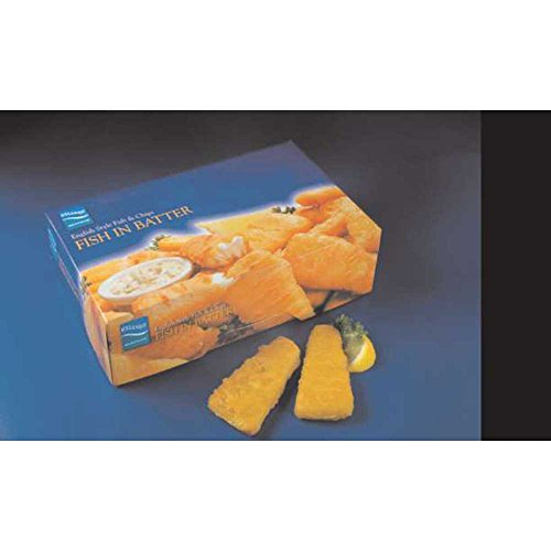 English Style Raw Fish-In-Batter Wedge Cut Cod, 2 Ounce of 288 Pieces Per Bag, 4 Pound -- 9 per case. (Cut Uniquely Piece)