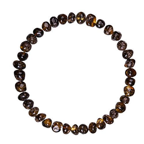 Adult Baltic Amber Bracelet (Unisex, Green, 7.5 Inches) Lab-Tested, 100% Certified Baltic Amber - All Natural Pain Relief & Anti-Inflammatory For Migraine, Sinus, Arthritis & More
