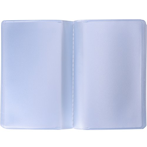 Shappy 2 Pieces Plastic Wallet Insert Credit Card Holder with 10 Page 20 Slots and 10 Page 10 Slots, Transparent (Tall Wallet Insert)