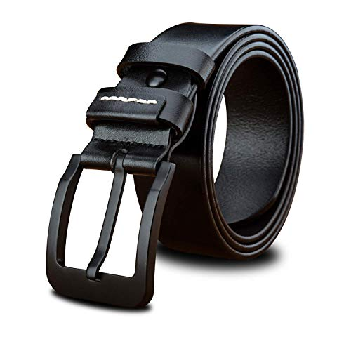 Used, LVLUOYE Men's belt Casual Italy Leather Black Brown for sale  Delivered anywhere in USA