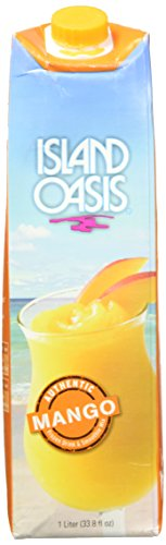 Island Oasis SB3X Premium Mango Drink Mix Bottle, 1 L
