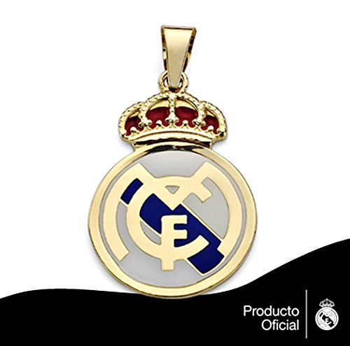 Pendentif Real Madrid or loi bouclier 18k émailler 32mm. [AA0632] - Modèle: 30-167