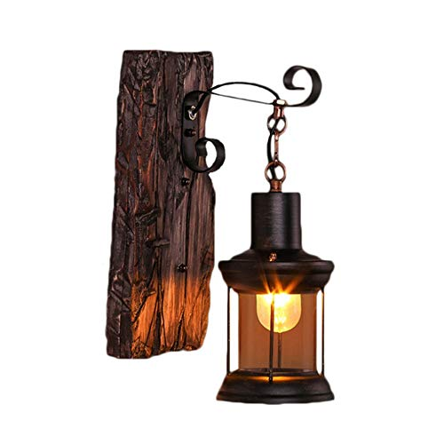 Yaione Outdoor Wall Light, Black with Transparent Water Glass, Dusk to Dawn Light Sensor, Garden, Courtyard, Home, Decorative Light, Wall Light Outdoor LED Black Ancient Rome Wall Lantern Waterproof P ()