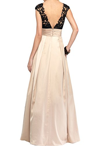 Abendmode Romantisch Linie Violett Satin V Promkleider Ivydressing Neck Ballkleider Spitze A AXzaxXwqd
