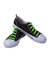 Premium Neon Green No-Tie Silicone Shoe Laces - One Size Fits All - 20 Piece Bundle Pack