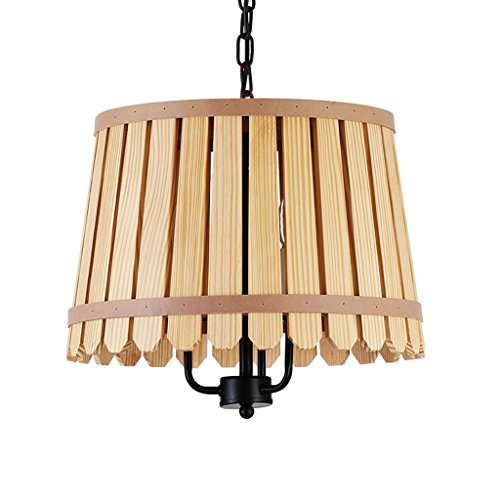 Wooden Single Head Chandelier, Environmental Health, Creative Restaurant Living Room Lights by Cang teacher