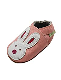 Sayoyo Baby Girl Cute Rabbit Soft Sole Leather Infant Toddler Crib Shoes Moccasins