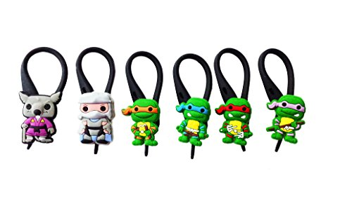 April Oneil Ninja Turtle Costume (AVIRGO 6 pcs Soft Zipper Pull Charms for Backpack Bag Pendant Jacket Set # 79-3)