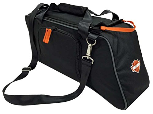 HARLEY-DAVIDSON Saddlebag Utility Tote Cooler, Bar Shield Logo, Black 439-02