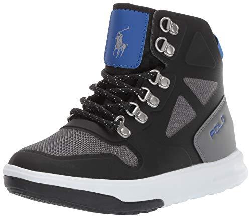 Polo Ralph Lauren Kids Boys' Alpine Fashion Boot Black/Grey/Royal M030 M US Little Kid (Ralph Lauren Alpine)