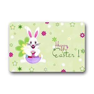 Custom decorativa de huevos de Pascua conejos Felpudo para secar mojado pies, Grabing suciedad y polvo
