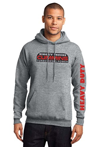 Stack Tees Company Men's Cummins Diesel Heavy Duty Pullover Hooded Sweatshirt Large Athletic Heather (Cummins Diesel Sweatshirt compare prices)