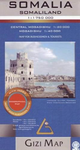 Somalia Geographical Map 1:1,750,000 Gizi (English and German Edition)