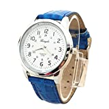 Elegant Analog Luxury Sports Leather Strap Quartz Mens Wrist Watch Bu