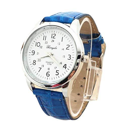 Bestow Reloj Simple Reloj de Pulsera de Cuarzo Elegante Correa de Cuero Deportivo Analšgico de Lujo BK Reloj: Amazon.es: Ropa y accesorios