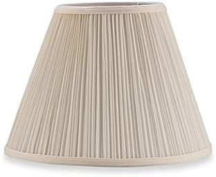 Upgradelights Eggshell Pleated 10 Inch Mushroom Clip on Lampshade Replacement 6x10x7.5