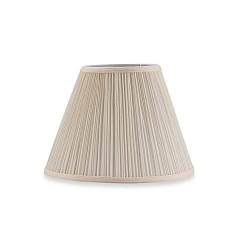 Pleated Lamp Shades - Upgradelights 10 Inch Eggshell Pleated Empire Clip on Replacement Lampshade (6x10x7.5)