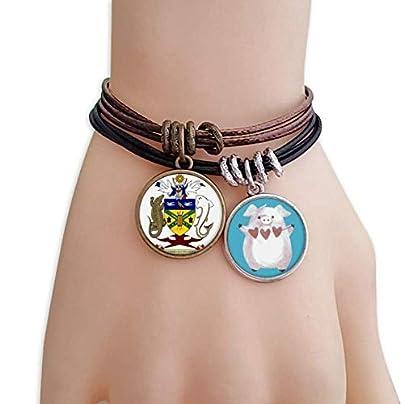 master DIY Solomon Islands National Emblem Bracelet Rope Wristband Pig Heart Love Set Estimated Price -