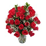Gorgeous Three Dozen Rose Bouquet for Delivery-with Vase 36 Red Roses for a Special Ocassion