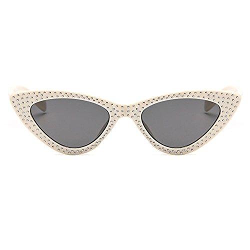 Marco Gafas Mujeres C8 Sunglasses juqilu pequeño Cool UV400 Eye Cat Anteojos Triángulo vp0xHtt