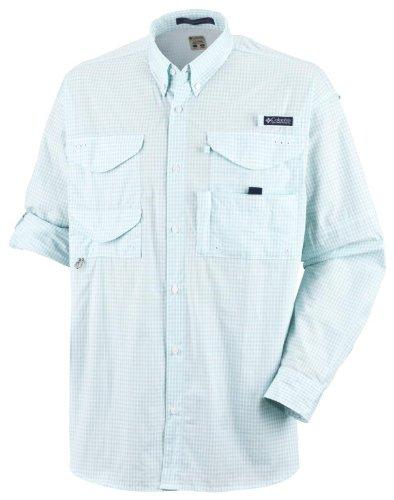 Columbia Mens Super Bonehead Classic Long Sleeve Shirt, 3X, Gulf Stream/Gingham
