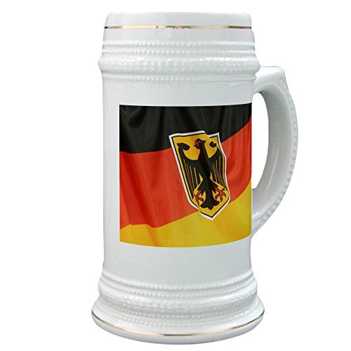 Stein (Glass Drink Mug Cup) German Flag Waving