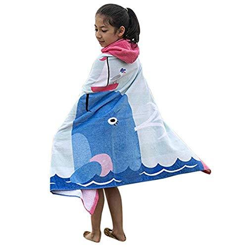 (Kids Hooded Bath/Beach Towel Girls Boys Cute Cartoon Animal Full Vitality,100% Cotton (New)