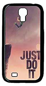 Brian114 Samsung Galaxy S4 Case, S4 Case - Cool Black Back Hard Case for Samsung Galaxy S4 I9500 Jump Off The Cliff Design Hard Snap-On Cover for Samsung Galaxy S4 I9500