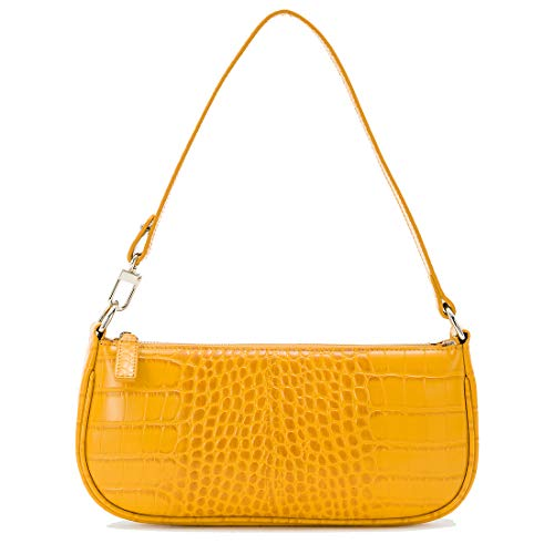 Shoulder Bag For Women Handbags Ins Crocodile Pattern Baguette Bag Retro ()