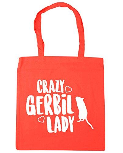 HippoWarehouse Crazy jerbo Lady Tote Compras Bolsa de playa 42cm x38cm, 10litros Coral