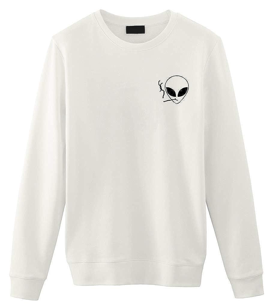 Smoking Alien Alieno Unisex Sweater Maglioncino Felpa Fellow Friends