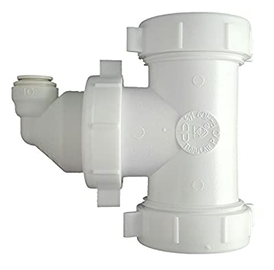 Eco-Tech DLA-12 Drain Line Adapter (Quick Connect) Part # 12-38 QC, Reverse Osmosis RO for Multi-Compartment Sinks or Single Compartment Sinks without Disposal, Made in USA
